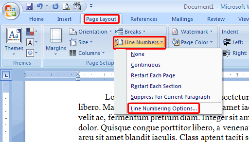 how to add page number at bottom in word 2007