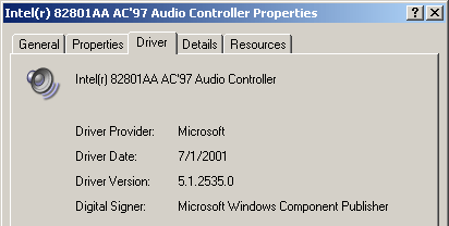 audio ac 97 intel драйвер